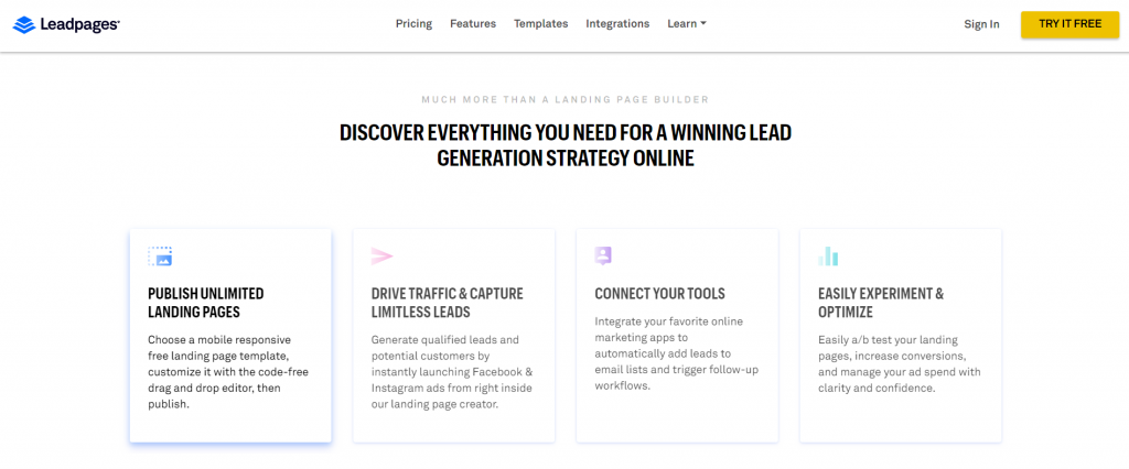 Leadpages as an Unbounce Alternative