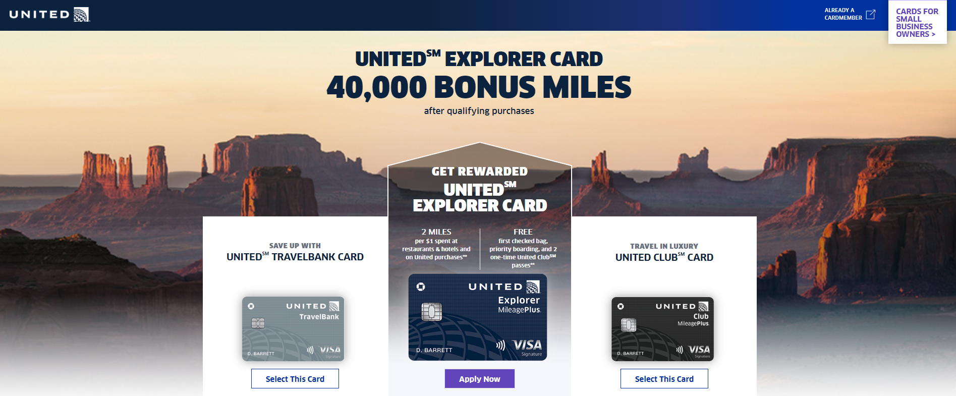 united business credit cards