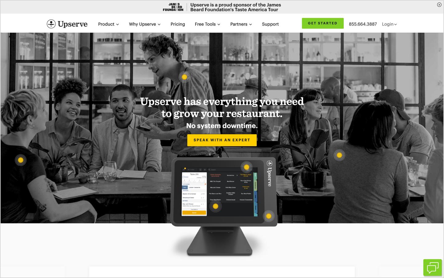 Upserve Homepage