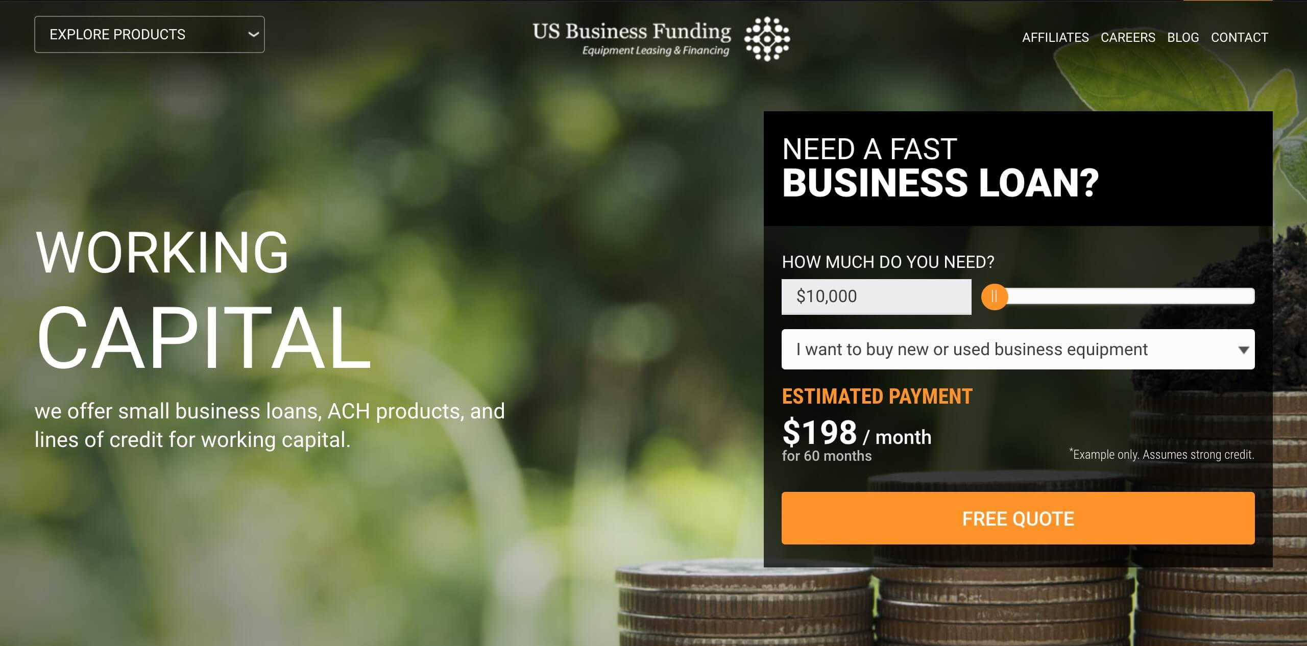 US Business Funding home page