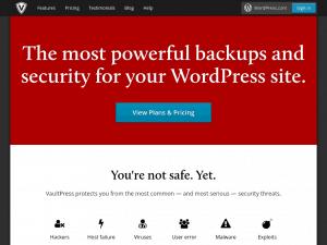 VaultPress homepage