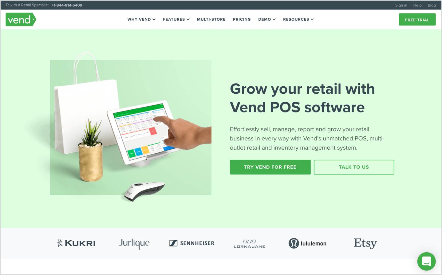 vend homepage