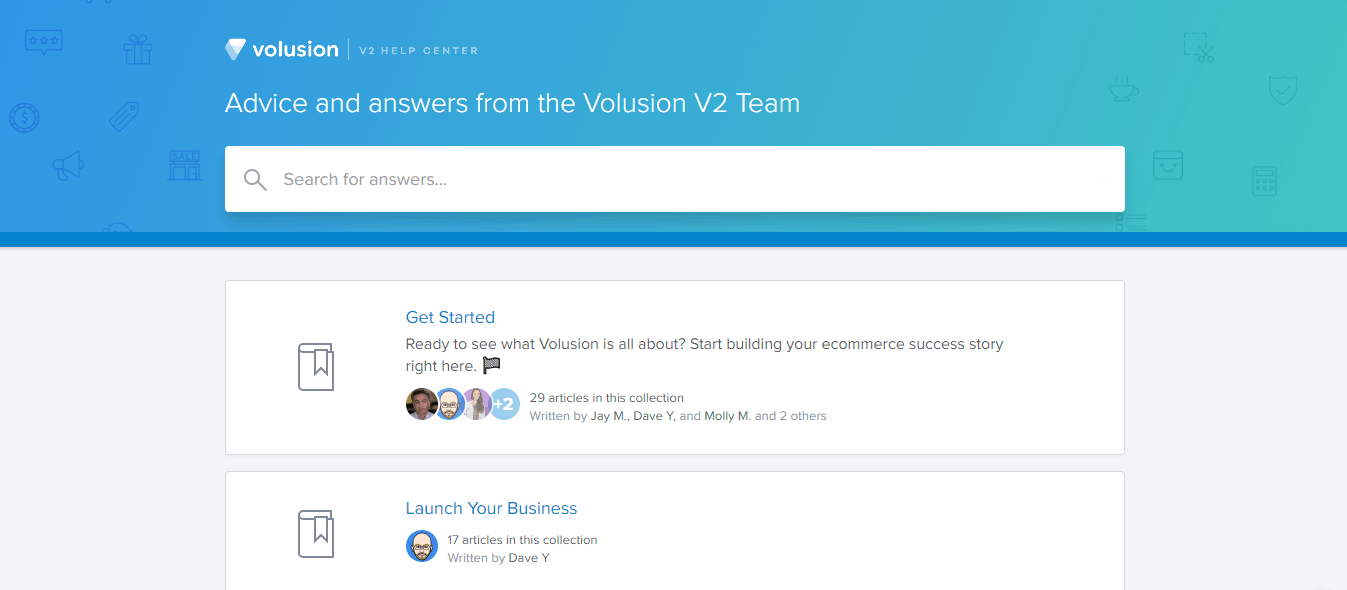 Volution Help Page
