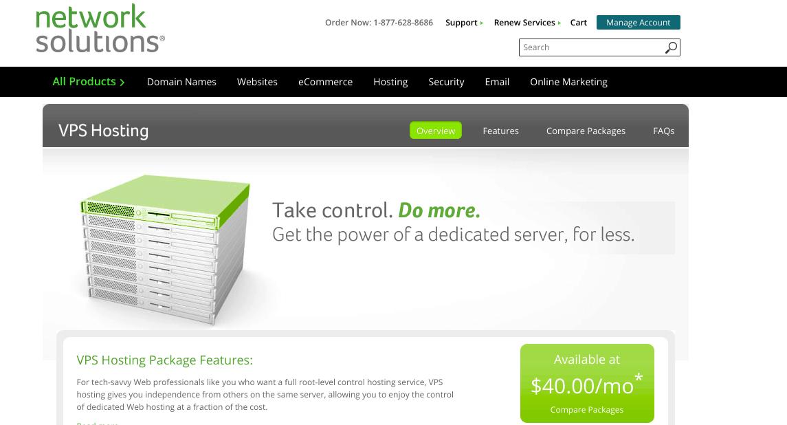 VPS Screenshot Network Solutions