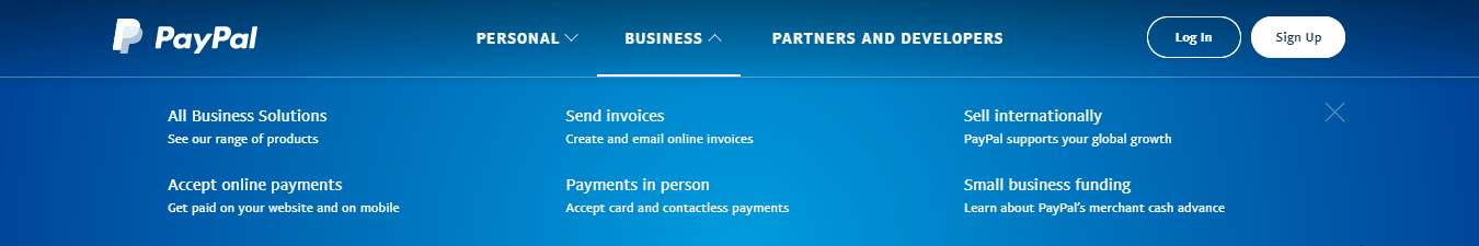 PayPal Business Options