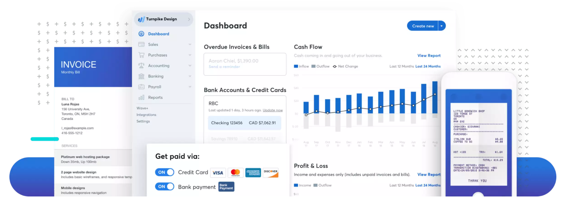 Wave accounting dashboard