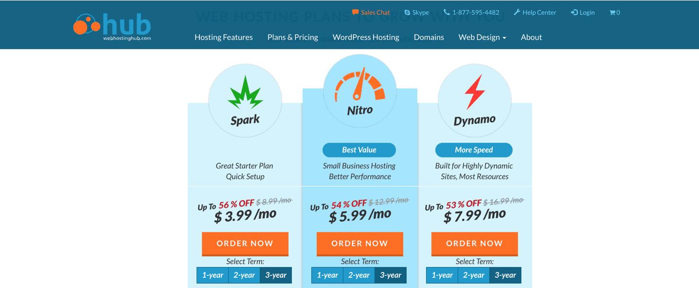 webhostinghub plans