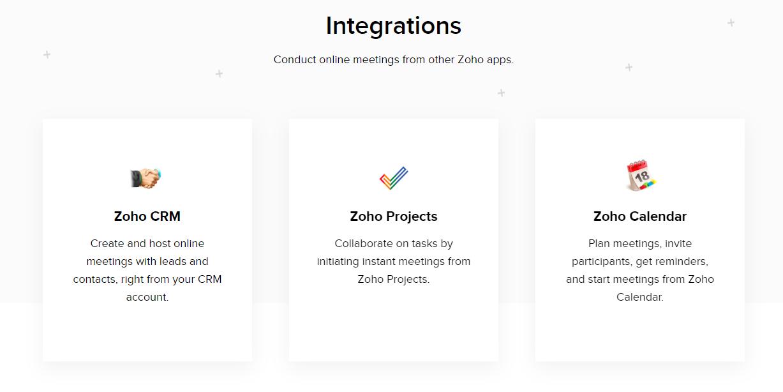 zoho meeting webinar software
