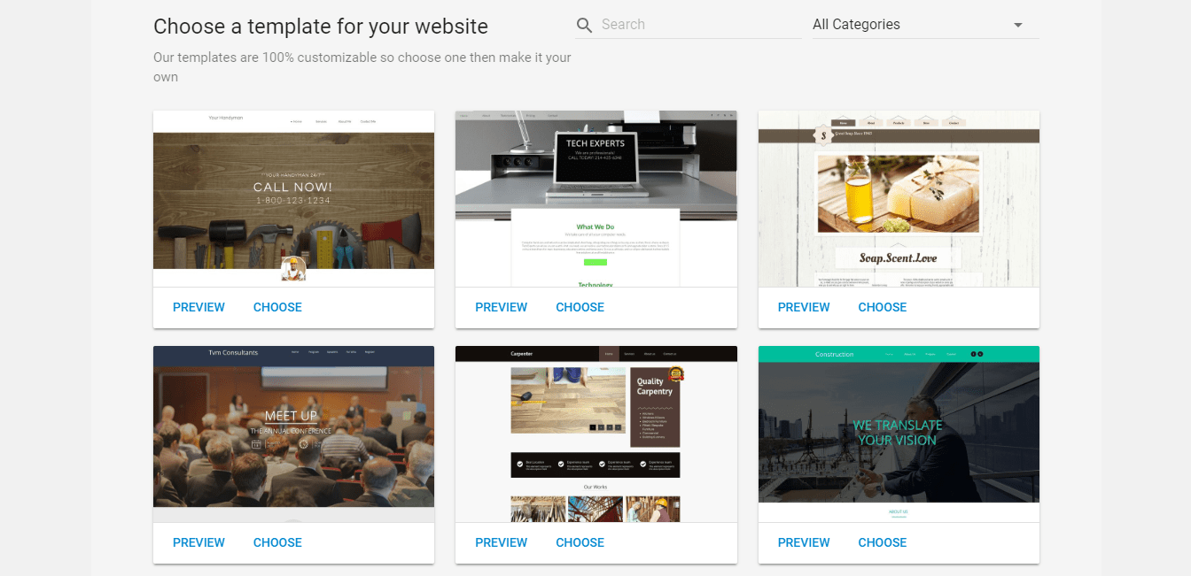WebsiteBuilder Themes and Templates