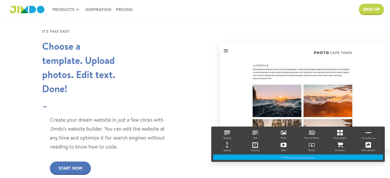 Jimdo - Easy-To-Use Website Builder