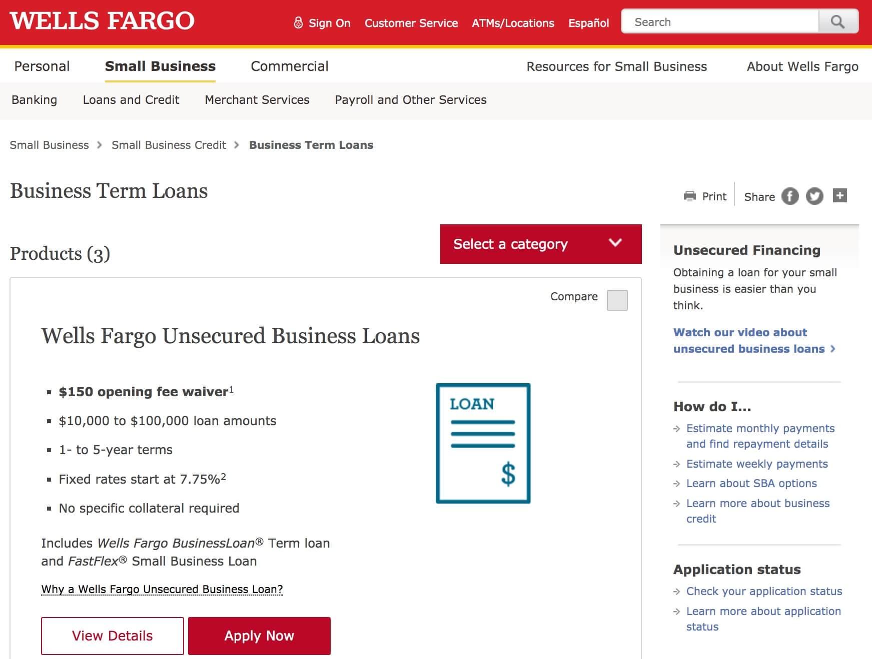 wells fargo loans