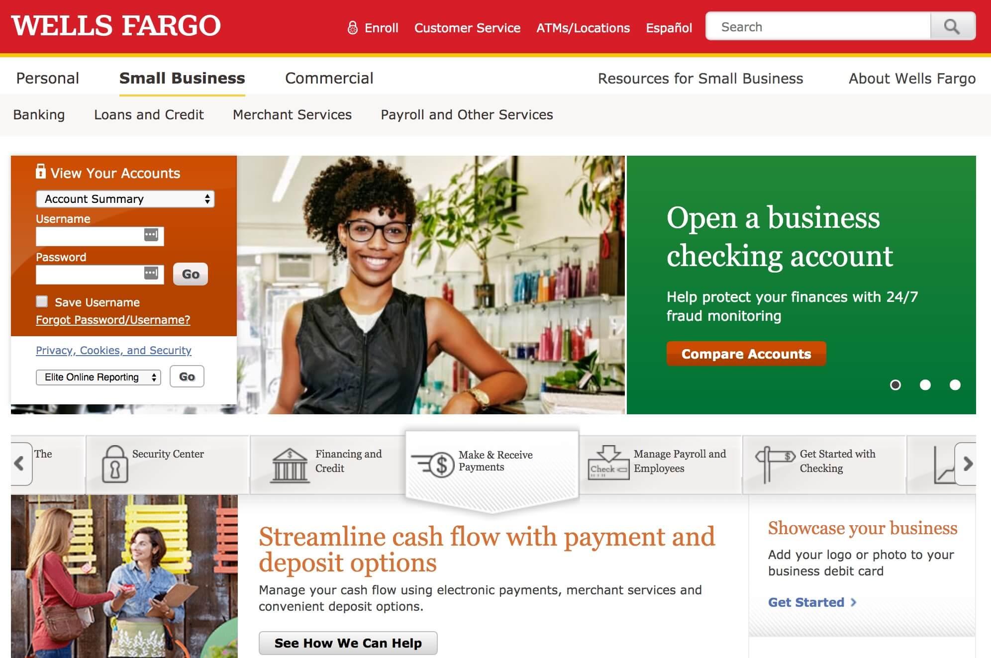 Wells Fargo business banking