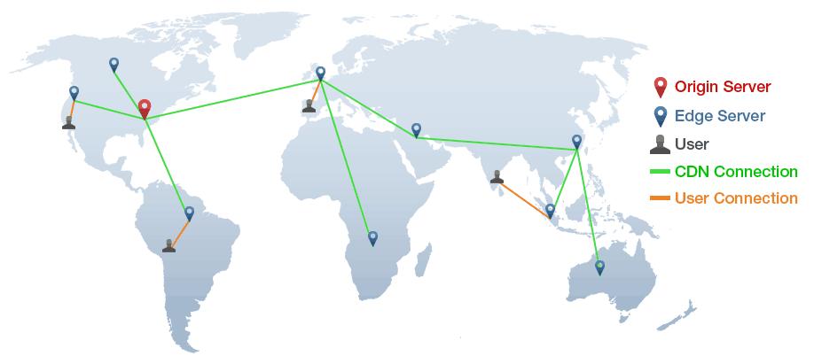 Map showing CDNs