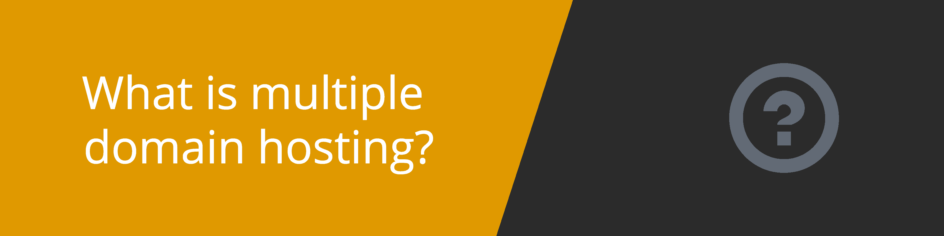 what is multiple domain hosting