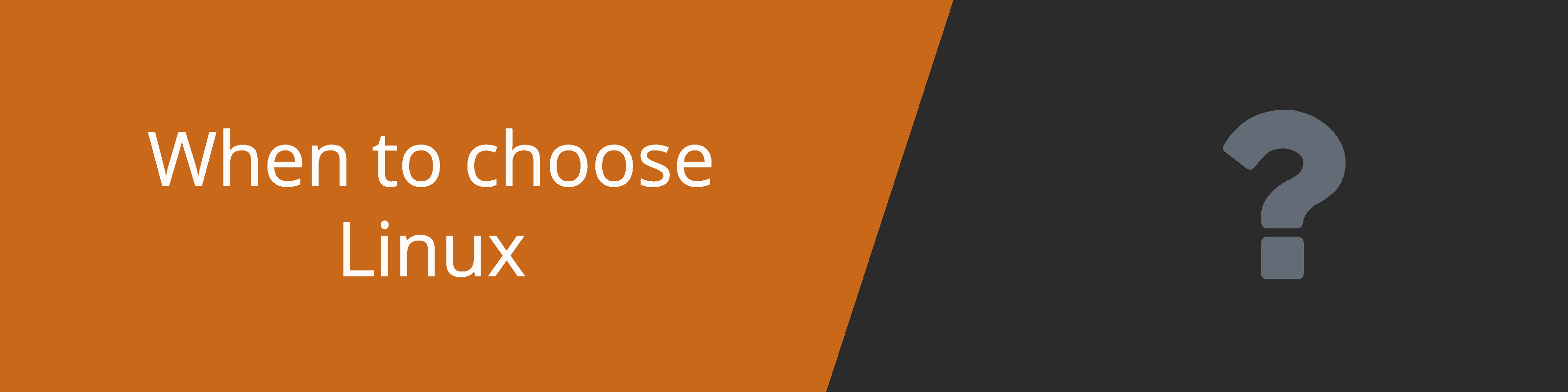 why choose linux