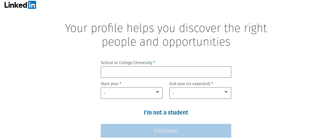 Linkedin Guided Wizard Screenshot
