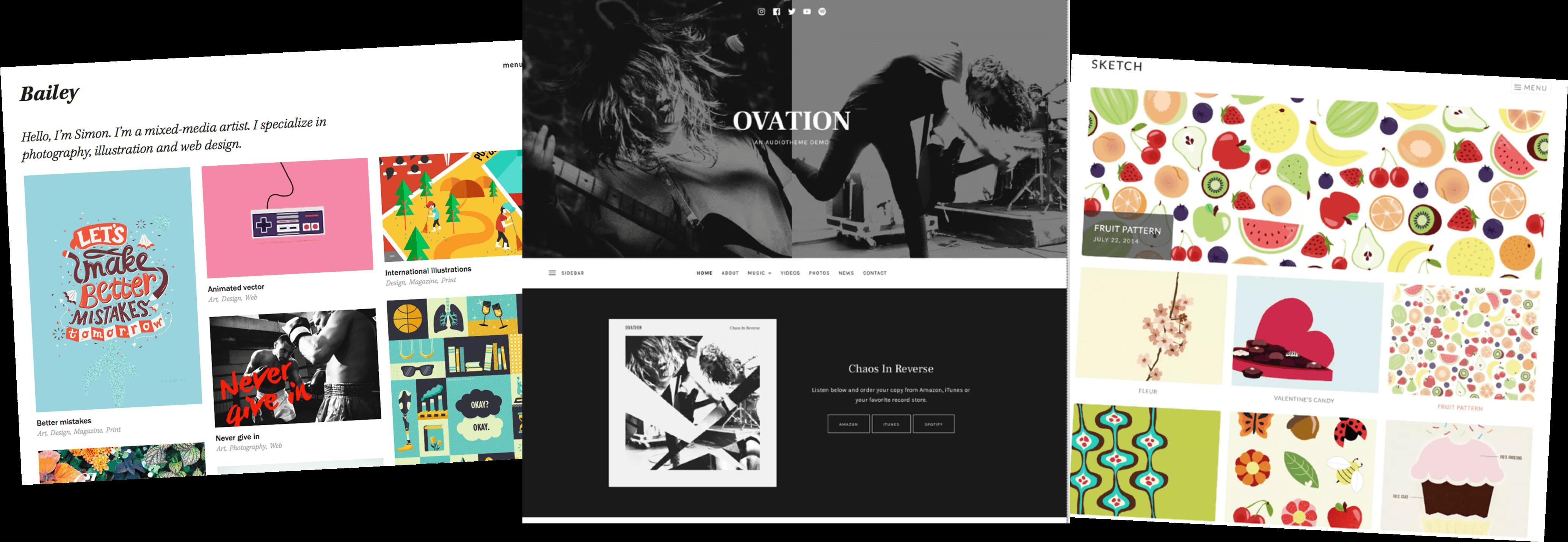 wordpress online portfolio