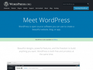 WordPress.org homepage