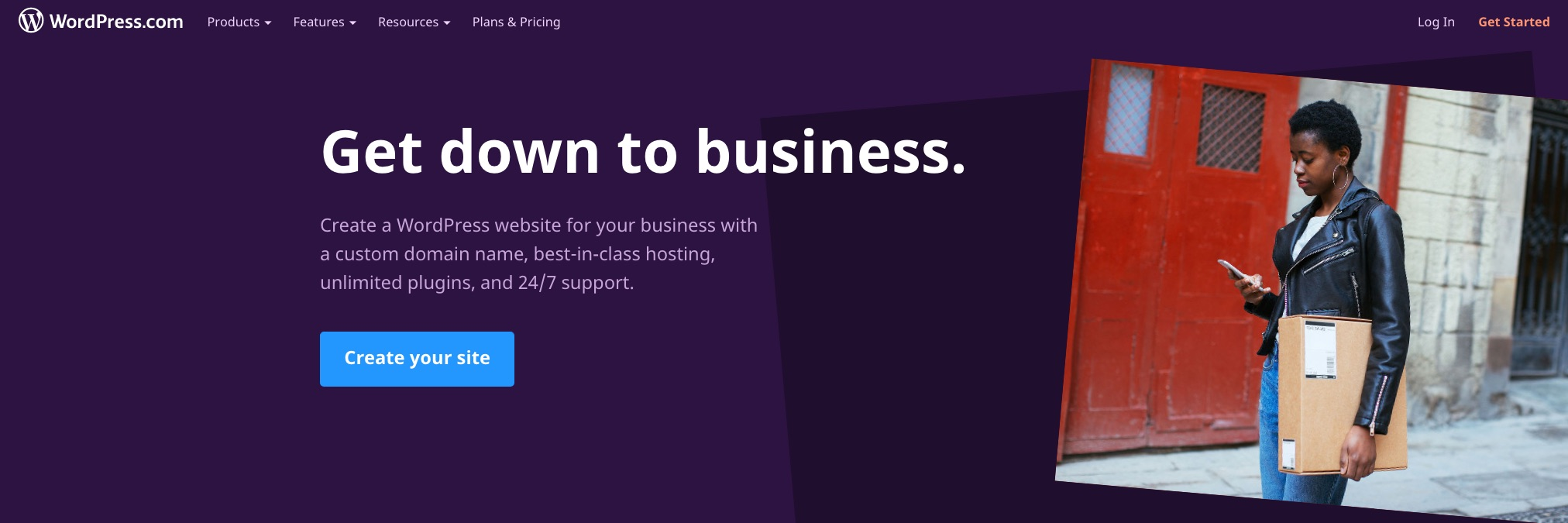 WordPress for Business home page