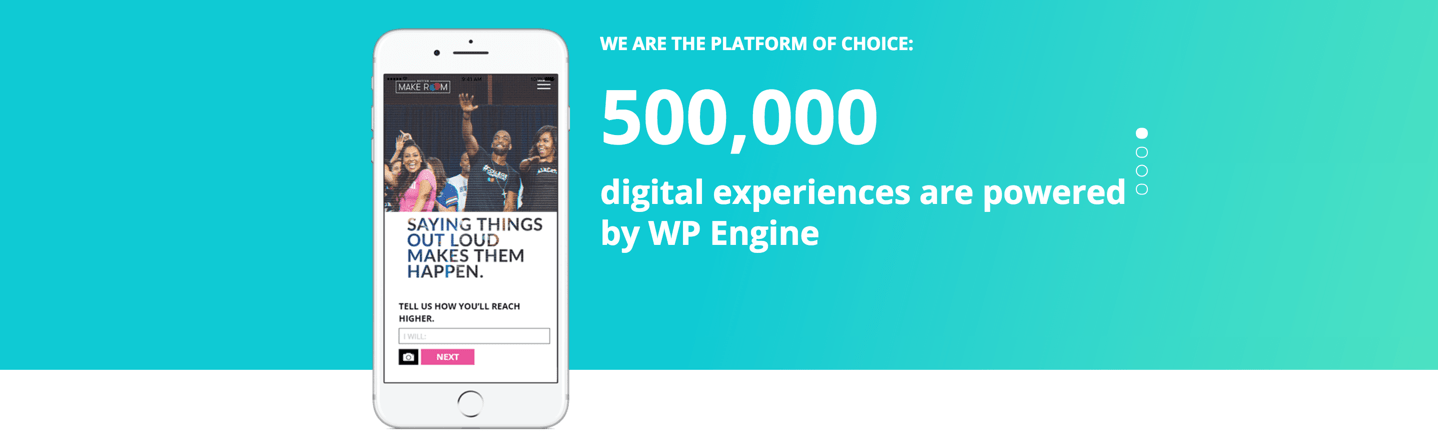 WP Engine hosts half a million sites