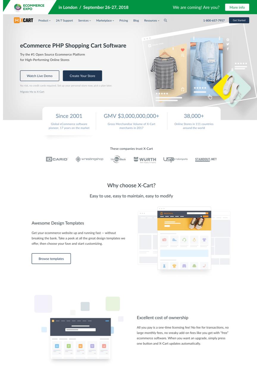 xcart homepage